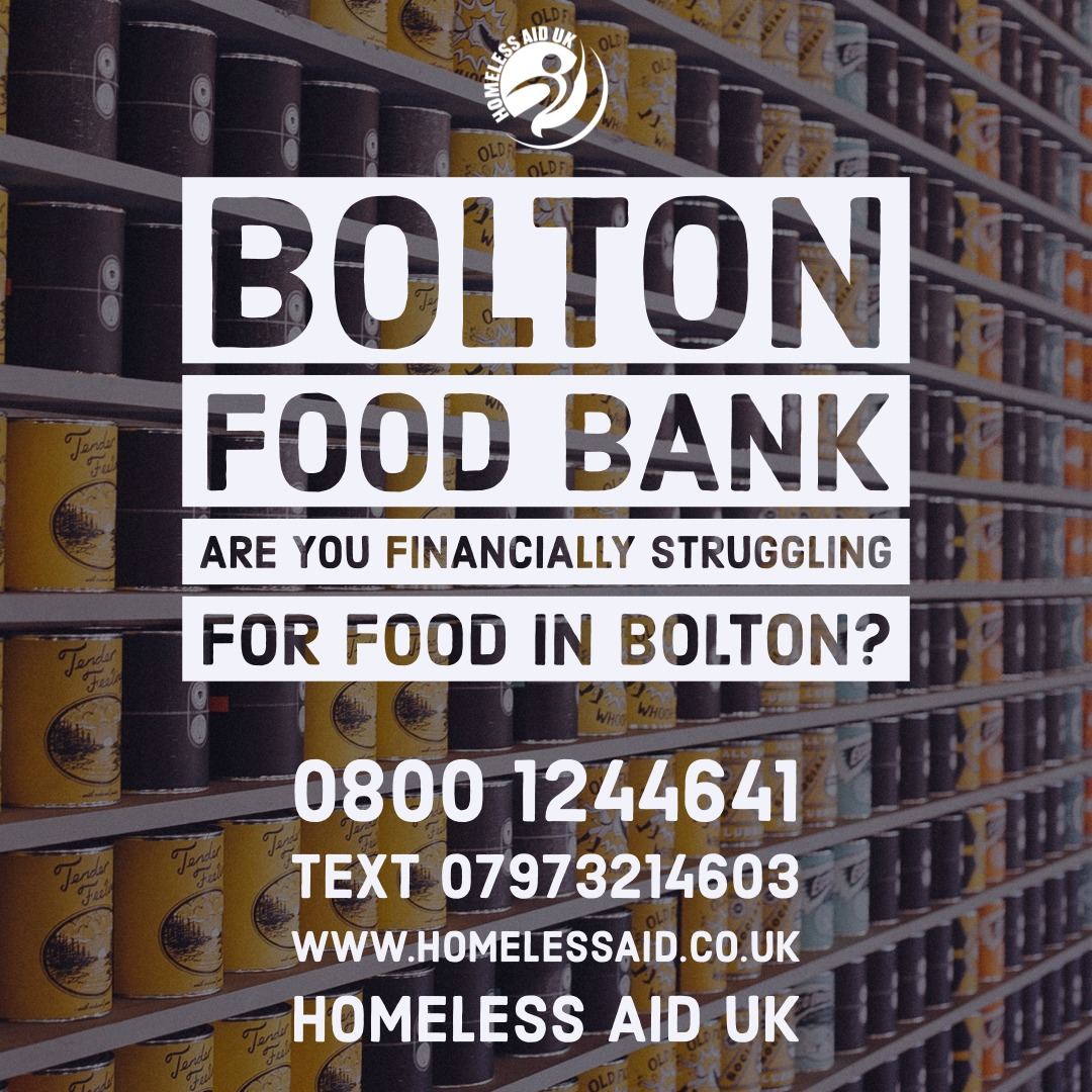Bolton Homeless Aid UK Food Bank